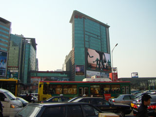 Huge LED billboard in central China