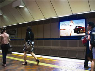 One of the 34 advertising LED screens in Melbourne metro