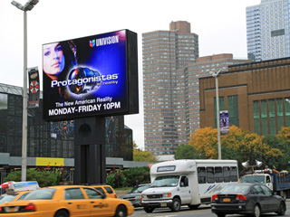 Advertising LED screen in New York