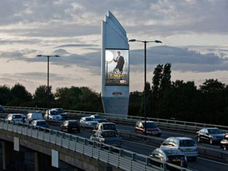 Advertising LED screen in London