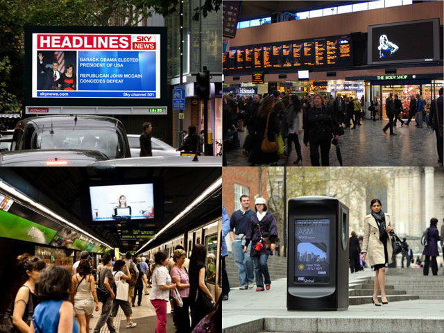 Digital screens are everywhere you turn