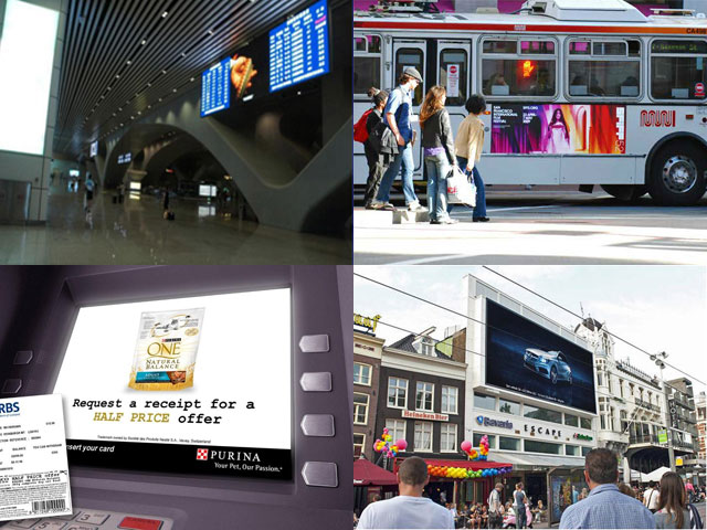 Informational and advertising digital systems in modern cities