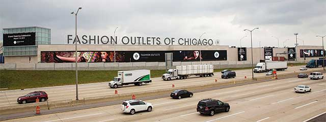 Telões de LED para Fashion Outlets em Chicago