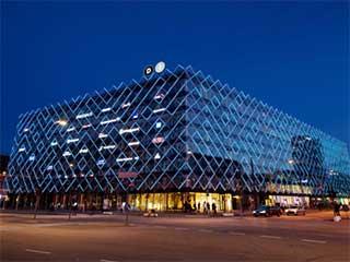 Светодиодный медиафасад в Копенгагене