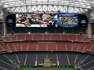 Telão de LED enorme no Reliant Stadium em Houston