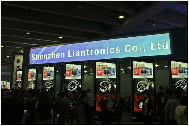 Informational LED info-kiosks manufactured by Liantronics
