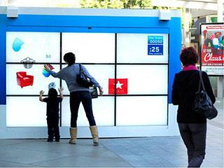 Интерактивная видеостена в Century City Mall
