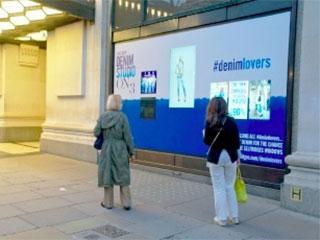 Рекламная витрина-экран Selfridges в Лондоне