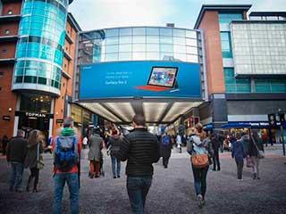 Новый цифровой билборд компании MediaCo в Манчестере