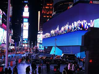 The world's largest digital billboard at Times Square