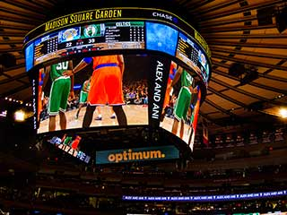 LED video cube in the Madison Square Garden