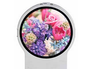 Round LCD display by Toshiba