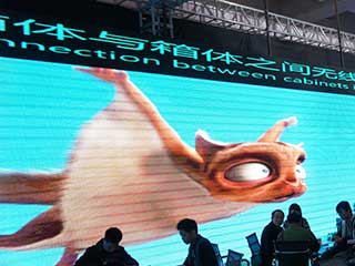 3D image on a LED screen