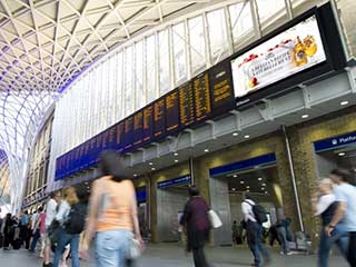 London King's Cross railway station digital displays