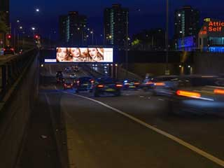 New Outdoor Plus LED screen in London on the A12