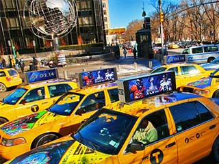 Taxi top LED digital signage