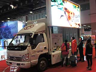 Truck-based LED screen with P5 pixel pitch