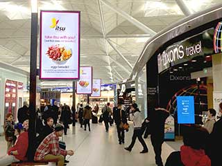 Digital signage at London Stansted Airport