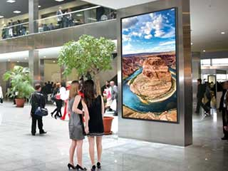 LG giant digital signage in shopping mall