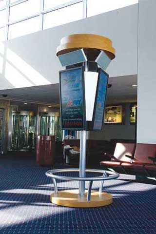 Digital signage with sound in airport