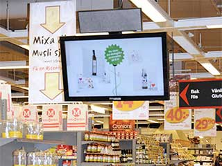 Digital signage with sound in shop