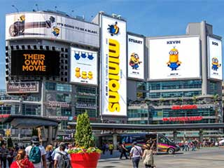 Dundas Square LED screens in Toronto