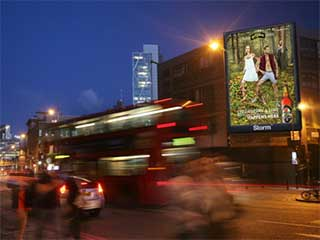 LED screen by advertising company Storm in London