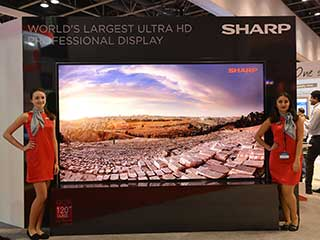 "Sharp 120"" 4K2K Ultra HD Display"
