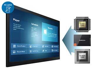 Señalización digital de Samsung DB10D