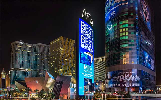 Las Vegas Aria Pylon LED screen