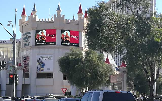 Las Vegas Excalibur LED screens