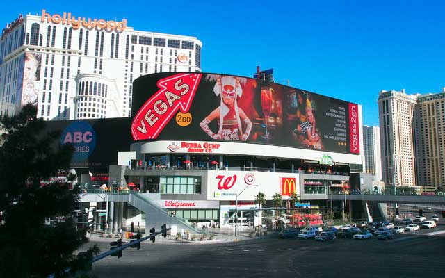 Las Vegas Harmon Corner LED screen