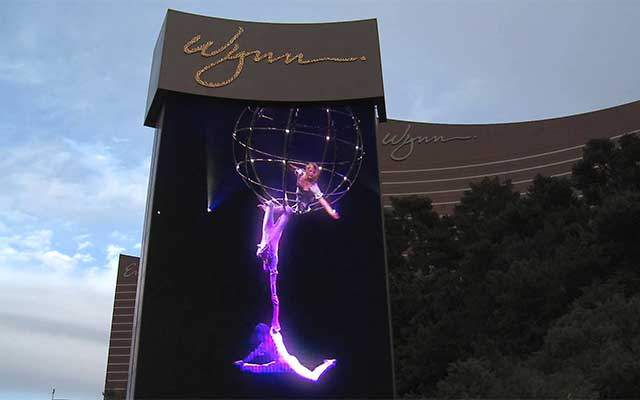 Las Vegas Wynn Hotel LED screen