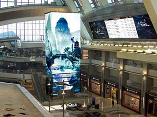 LAX Airport Time Tower LED Screen