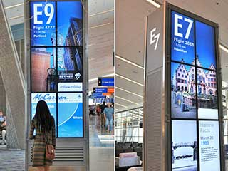 NEC Vertical Video Walls at MacCarran Airport