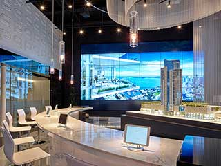 Video wall del LCD por Planar en Miami Worldcenter