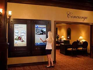 Interactive Display in Hotel Lobby
